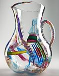 Cane-Fetti Pitcher by Michael Richardson, Justin Tarducci and Tim Underwood (Art Glass Pitcher)