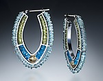 Beaded Hoop Earrings by Susan Kinzig (Beaded Earrings)