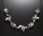 Bubbles Necklace by Susan Kinzig (Silver, Stone & Polymer Clay Necklace)