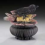 Crow and Corn Box by Nancy Y. Adams (Ceramic Box)
