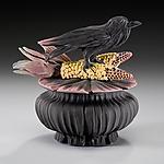 Crow and Corn Box by Nancy Y. Adams (Ceramic Box)