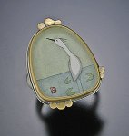 Crane Ring by Ananda Khalsa (Gold & Silver Ring)