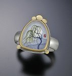 Willow Moon Ring by Ananda Khalsa (Silver & Gold Ring)