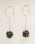 Pom Pom Earrings by Dahlia Kanner (Silver Earrings)