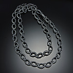 Long Bumpy Necklace by Dahlia Kanner (Silver Necklace)