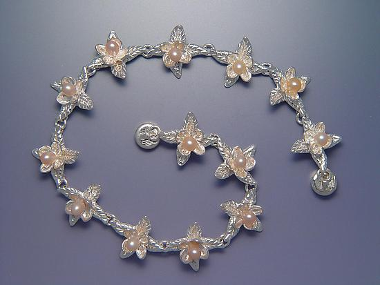 Pointed Bloom Bracelet with Pearls