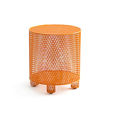 Punch in Orange by Damian Velasquez (Metal Stool)