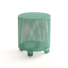 Punch in Turquoise by Damian Velasquez (Metal Stool)
