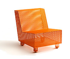 Chair No. 35 in Orange by Damian Velasquez (Metal Chair)