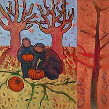 Pumpkins by Chin Yuen (Acrylic Painting)