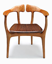 Swallowtail Chair in Cherry by Brian Fireman (Wood Chair)