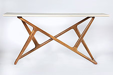 Lark Console Table by Brian Fireman (Wood Console Table)