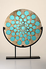 Rain Window Sculpture by Melody Lane (Ceramic Sculpture)