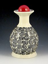 In Between the Lines Vase by Lisa Scroggins (Ceramic Vase)