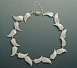Leaf Cascade Bracelet by Ellen Vontillius (Silver Bracelet)