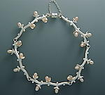 Long Branch with Blooms Bracelet by Ellen Vontillius (Silver & Pearl Bracelet)