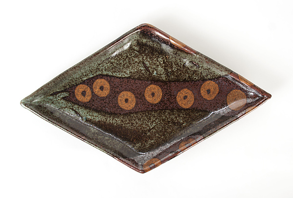 Patterned Stoneware: Diamond Appetizer Plates