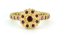 Beady Blossom and Bubble Ring by Jessica Fields (Gold & Stone Ring)