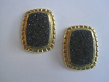 Drusy Earrings by Ilene Schwartz (Gold & Stone Earrings)