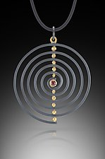 Spiral Pendant by Ilene Schwartz (Gold, Silver, & Stone Necklace)