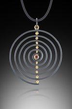 Spiral Pendant by Ilene Schwartz (Gold, Silver, & Stone Necklace)