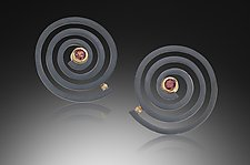 Spiral Earrings by Ilene Schwartz (Gold, Silver & Stone Earrings)