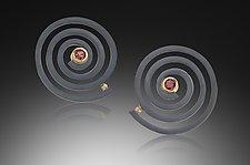 Spiral Earrings by Ilene Schwartz (Gold, Silver & Stone Earrings)