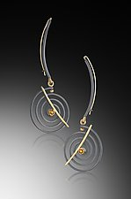 Hanging Spiral Earrings by Ilene Schwartz (Gold, Silver & Stone Earrings)