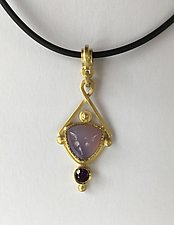 Trillion Pendant Drop by Ilene Schwartz (Gold & Stone Necklace)
