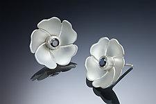 Small Blossom Earrings by Ilene Schwartz (Gold, Silver & Stone Earrings)