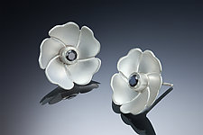 Small Blossom Earrings by Ilene Schwartz (Gold, Silver & Stone Earrings)