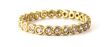 Diamond Bubble Band by Jessica Fields (Gold & Stone Ring)