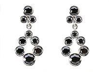 Small Teardrop Wreath Earrings in Black by Jessica Fields (Gold & Stone Earrings)