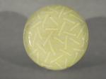 Large Round Platter: White Straws on White by Michael Jones (Ceramic Platter)