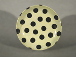 Large Round Platter: White with Black Polka Dots by Michael Jones (Ceramic Platter)