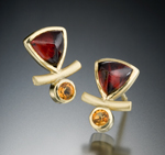 Joy Earrings by Ilene Schwartz (Gold & Stone Earrings)