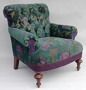 Middlebury Chair: Bohemian: Mary Lynn O'Shea: Upholstered Chair - Artful Home