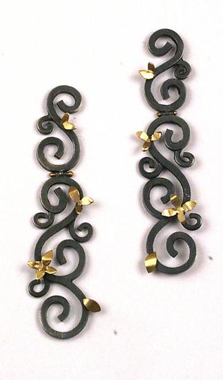 Hinged Wrought Earrings