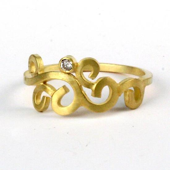Wrought Single Stone Ring