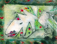 Green Jag Fish by Roberta Ann Busard (Giclee Print)