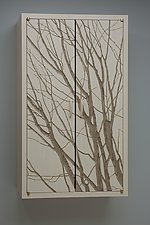 Wall Cabinet with Branches by Duncan Gowdy (Wood Cabinet)