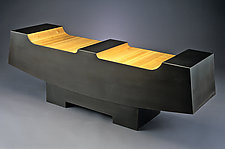Two Seater by Isaac Arms (Steel & Wood Bench)