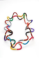Multi-Colored Squiggle Necklace by David Forlano and Steve Ford (Polymer Clay Necklace)
