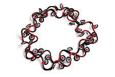 Red Vine Necklace by David Forlano and Steve Ford (Polymer Clay Necklace)