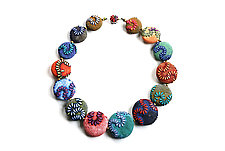 Big Bead Necklace #174 by David Forlano and Steve Ford (Polymer Clay Necklace)