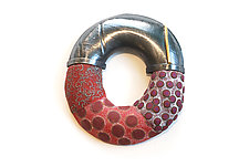 Hydro Top Pin #413 by David Forlano and Steve Ford (Silver & Polymer Brooch)