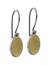 22k Oval Earrings by Elisa Bongfeldt (Gold & Silver Earrings)