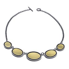 Five-Oval Necklace by Elisa Bongfeldt (Gold & Silver Necklace)