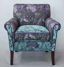 Salon Chair in Lavender Vine by Mary Lynn O'Shea (Upholstered Chair)
