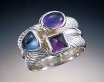 Twilight by Donald Pekarek (Silver & Stone Stacking Rings)